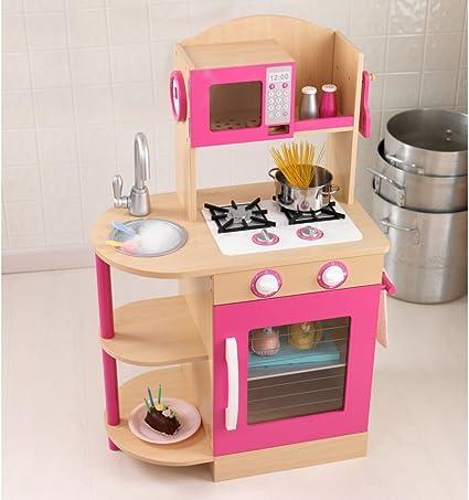 Amazon Com Kidkraft Pink Wooden Kitchen Toys Games