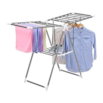 Nice Finether Folding Gullwing Drying Rack, Clothes Airer, Clothes Horse, Cloth  Dryer Stand For