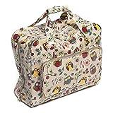 Hobby Gift Owl Design PVC Sewing Machine Bag on Natural (20 x 43 x 37cm)