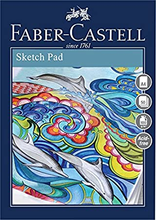 A5 100 gsm Pad of 50 Sheets Faber Castell Creative Studio Sketch Pad