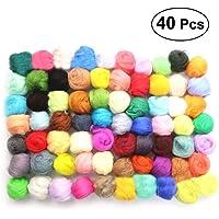 SUPVOX 40 colores 10g fieltro lana coser lana