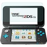 Nintendo 2DS LL 保護フィルム-DOSMUNG 任天堂 2DS LL ガラス フィルム-強化保護ガラス newニンテンドー2ds ll 液晶保護フィルム 高精細 ラウンドエッジ加工 自動吸着 クリスタル透明度 9H硬度 ガラス飛散防止 指紋防止 気泡ゼロ