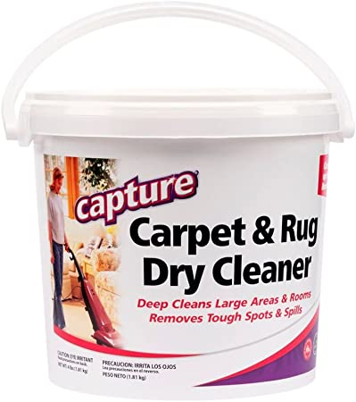 Capture Carpet Dry Cleaner Powder 4 Lb Deodorize Allergens Stain Smell Moisture From Rug Furniture Clothes And Fabric Pet Stains Odor Smoke And