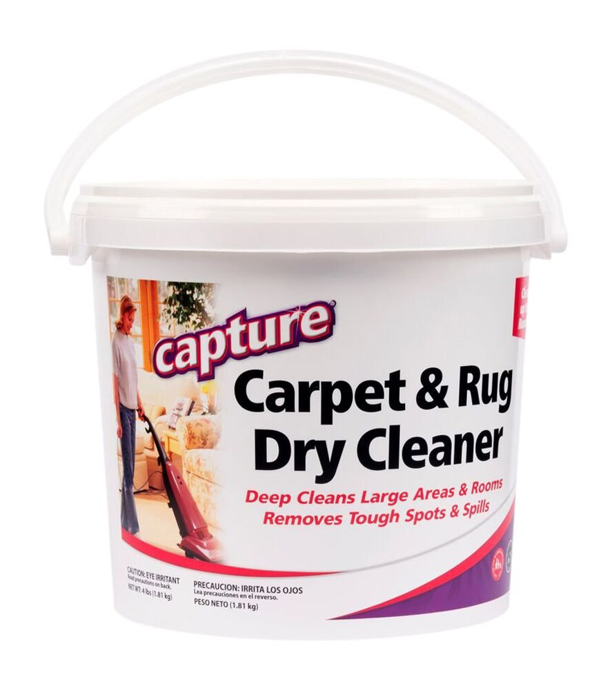 Capture Carpet Dry Cleaner Powder 4 Pound - Resolve Allergens Stain Smell Moisture from Rug Furniture Clothes and Fabric, Mold Pet Stains Odor Smoke and Allergies Too by Capture