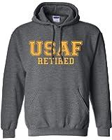 USAF Retired GOLD logo Hooded Sweatshirt