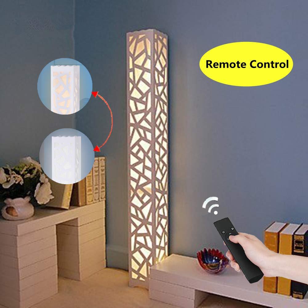 ELINKUME Lámpara de pie LED regulable Blanco Nueva Actualización Función de Control Remoto Lámpara de Sala de Estar Temperatura de Color Regulable Luz ...
