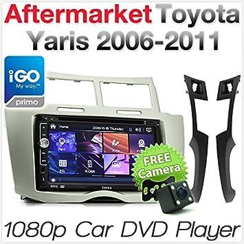 Reproductor de MP3 para Coche GPS y DVD para Toyota Yaris 2006-2011 Radio Estéreo Unidad de CD: Amazon.es: Electrónica