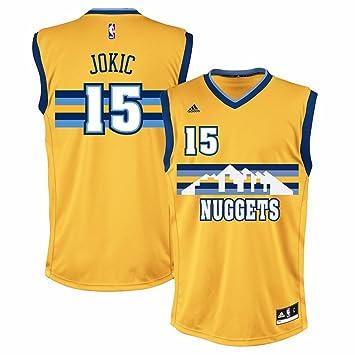 Adidas Nikola Jokic Denver Nuggets NBA Hombres de Oro de la réplica de la Camiseta, Dorado: Amazon.es: Deportes y aire libre
