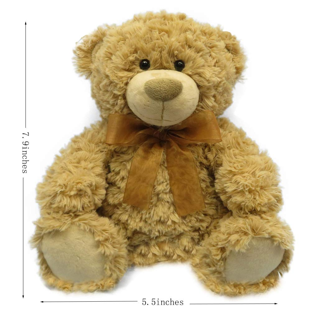 DORE Teddy Bear Stuffed Animal Plush Toys Cute Bear with Ribbon for Kids Brithday Gifts 7.8\
