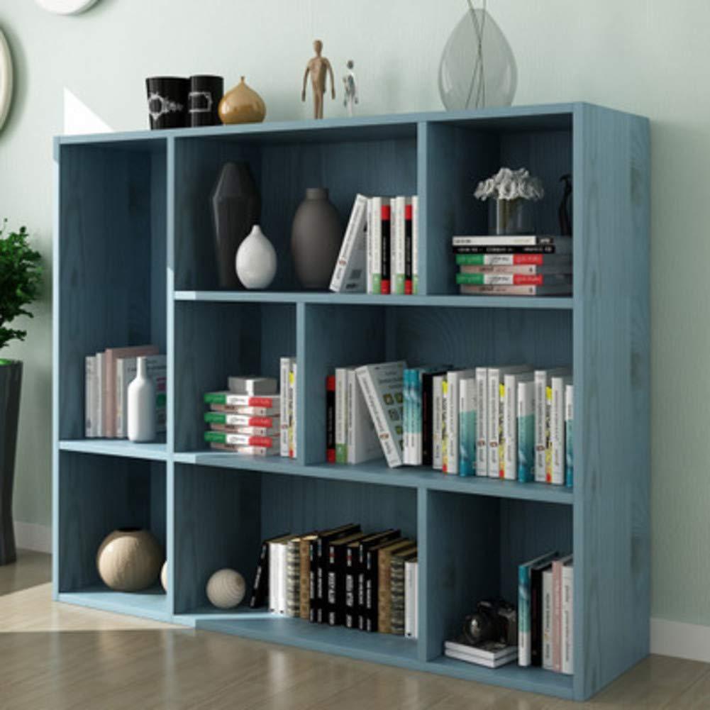 P 96x24x80cm(38x9x31inch) 8-Cube Floor Standing Bookcase, Multi-Layer Storage Cabinet, Simple Storage Rack Display Shelves Bookshelf Organizer for Office-q 96x24x80cm(38x9x31inch)