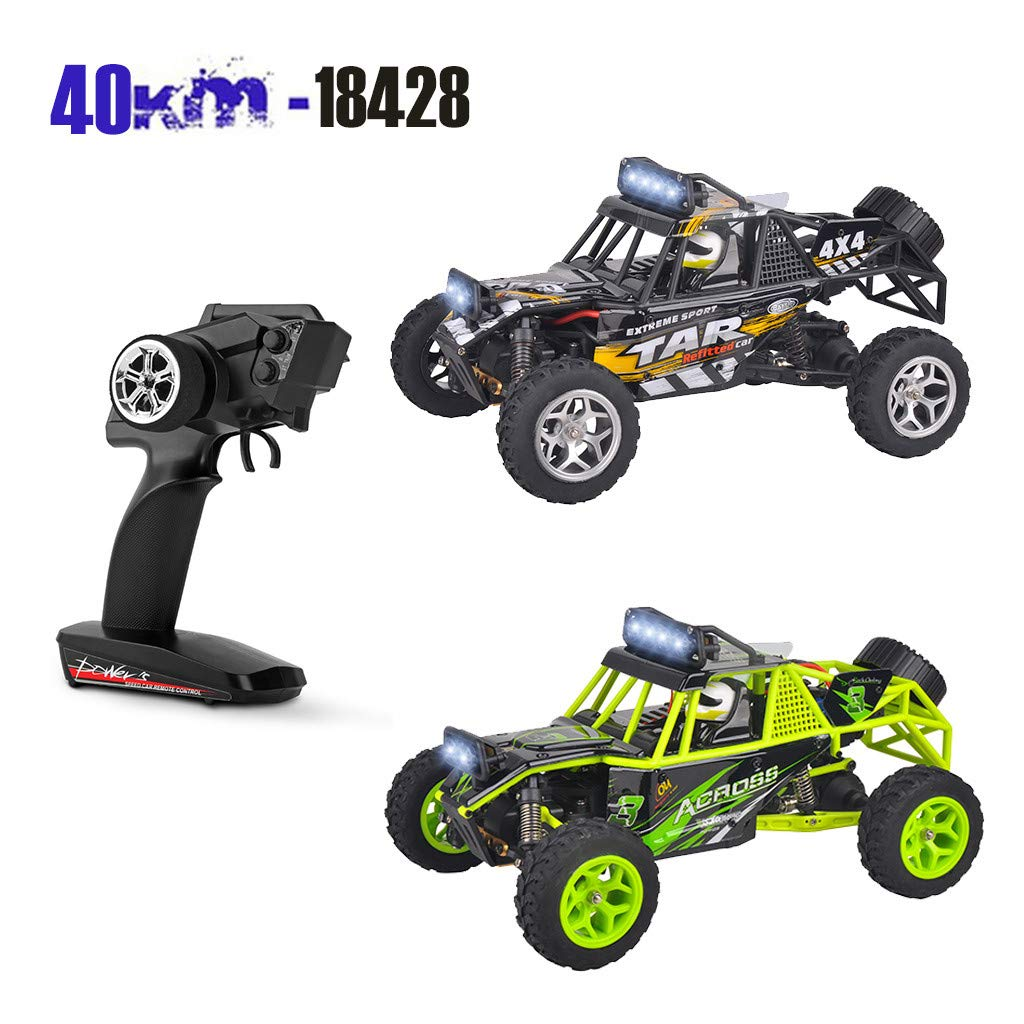 Childrens Day Upgraded 540 Brush Motor High Speed 40km/h 1:18 4D 2.4G RC Car Remote Controll Electric Mode Car Kids Gift (Green) by Aurorax Electric (Image #4)