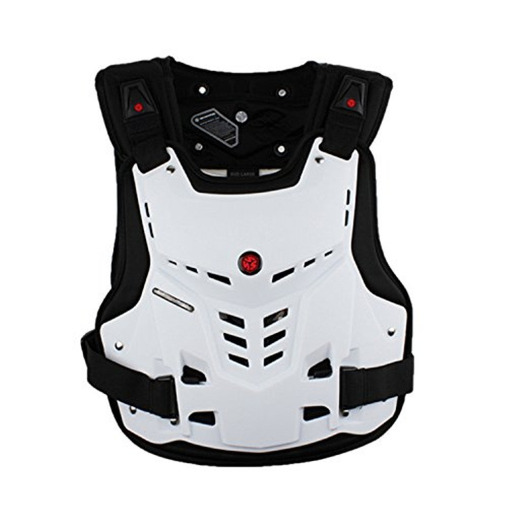 Cycling Body Protector Motorcycle Protective Jacket,Sport Motocross MTB Racing Full Body Armor Protector for Dirtbike Bike Motorcycle Motocross Skiing Snowboarding ( Color : White , Size : XL )