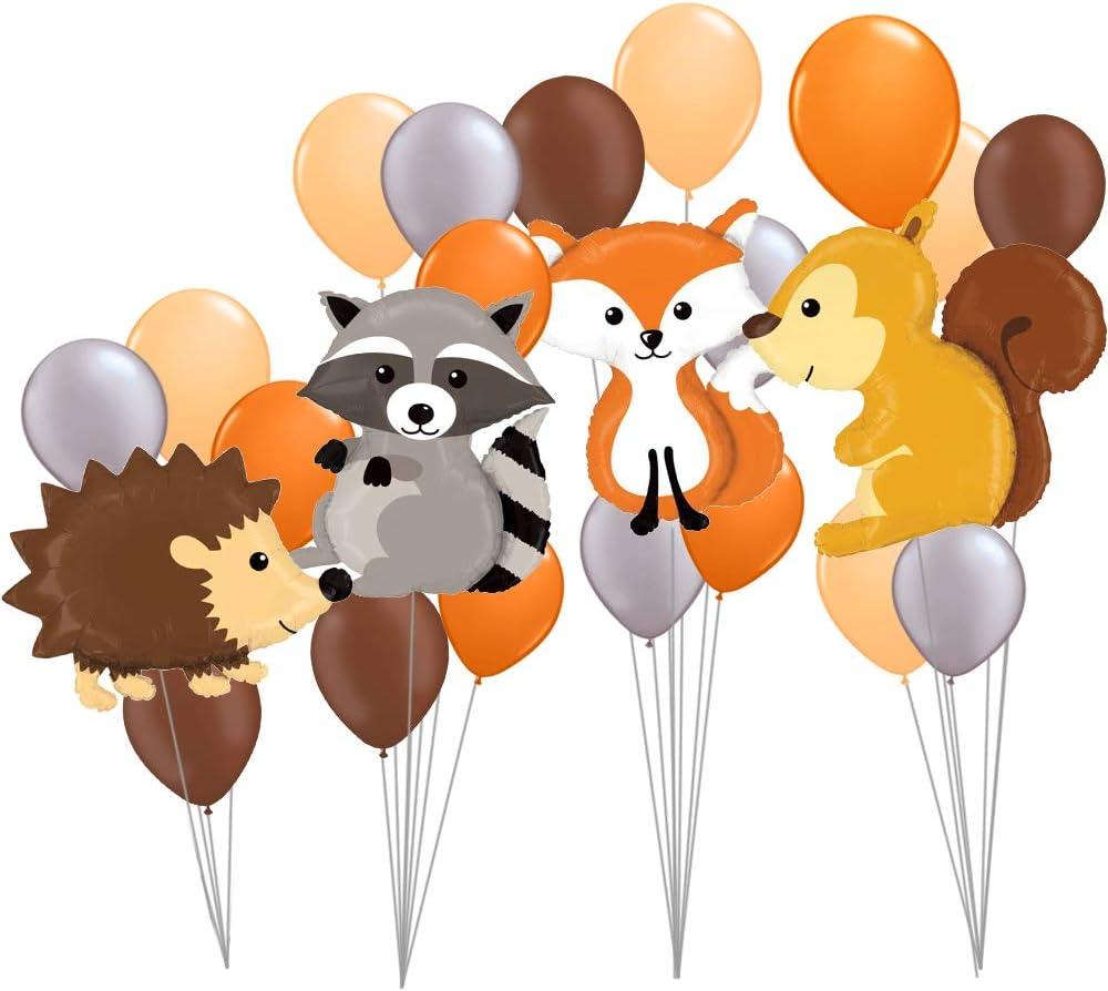 Raccoon Helium Ballon Hedgehog Fox Animal Balloons Birthday Wedding Party Cute