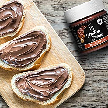 nu3 Fit Protein Creme - 200g Crema de chocolate y avellanas - Sin aceite de palma ni gluten - 45% menos azúcar - 21% de proteína - Excelente alternativa ...