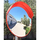 "24""Breakage-Proof Indoor/Outdoor Convex Safety Mirror Wall Mount/Pole Mount Traffic Security Shop Driveway Blind Spot Hidden (60CM)"