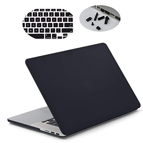 the best attitude 56ea4 2fe05 LENTION Hard Case for MacBook Pro (Retina, 15-inch, Mid 2012 to Mid 2015) -  Model A1398, with Keyboard Cover and Port Plugs, Matte Finish Case with ...