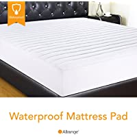 "Allrange Hypoallergenic Quilted Fitted Waterproof Mattress Pad, Stretch-up-to 16"", Moisture Management, Stain Release, Snug Fit, Mattress Protector"