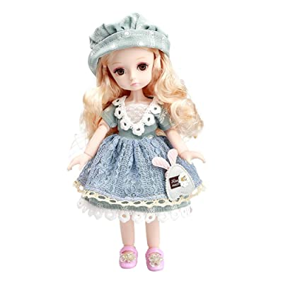 Little Bado Girl Doll 10 Inch 13 Removable Joints Dolls for Age 2 3 4 5 6 7 Year Old Girls Dolls Kids Dolls for Girls Baby Cute Doll Toy with Clothes and Shoes Birthday Gift for Boys Girls Amanda: Toys & Games