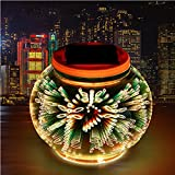 MIYA LTD Garden Lights Table Solar Powered, Waterproof Solar Outdoor Lights LED Desk Night Light 3D Color Changing Decorations for Christmas Halloween Holiday Patio Yard - Dragonfly