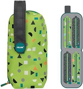 Milan Kit 4 Estuches con Contenido Happy Bots Verde: Amazon.es: Oficina y papelería