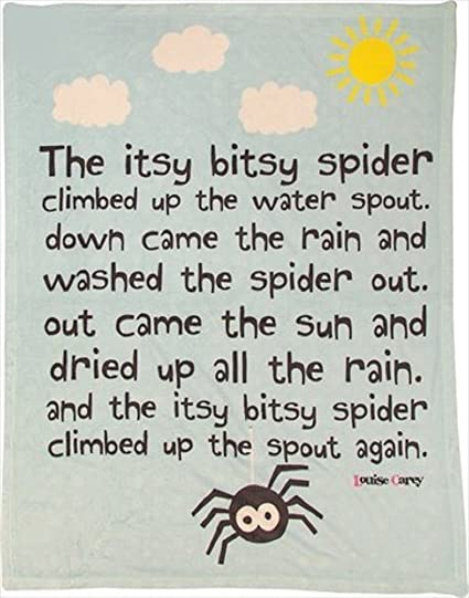 Manual Woodworkers and Weavers SAIBSP Itsy Bitsy Spider Fleece Blanket  Printed Fleece Polyester 30 X 40 in