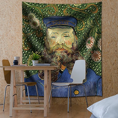 Portrait of the Postman Joseph Roulin by Vincent van Gogh