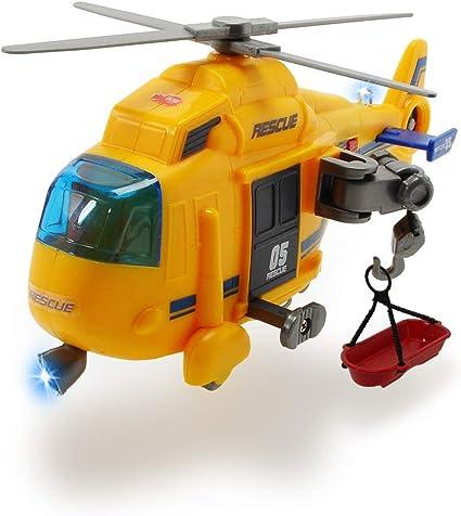 Dickie Toys roue libre hélicoptère avec lumières et sons