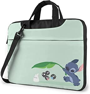 15.6 Inch Laptop Bag Lilo and Stitch Laptop Briefcase Shoulder Messenger Bag Case Sleeve