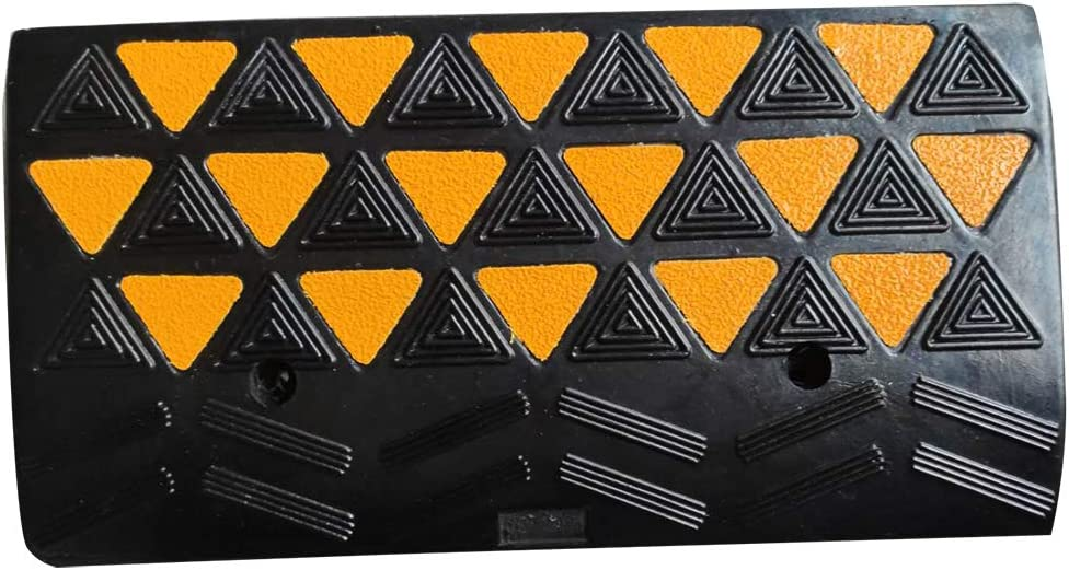 """BESEA Rubber Curb Ramp Heavy Duty 44000lbs Professional Grade Loading Ramps Car Slope Ramp Threshold Ramp for Forklifts Trucks,Buses,Motorcycle (24""""L × 12""""W × 4""""H Curb Ramp, Single Ramp).: Industrial & Scientific"""