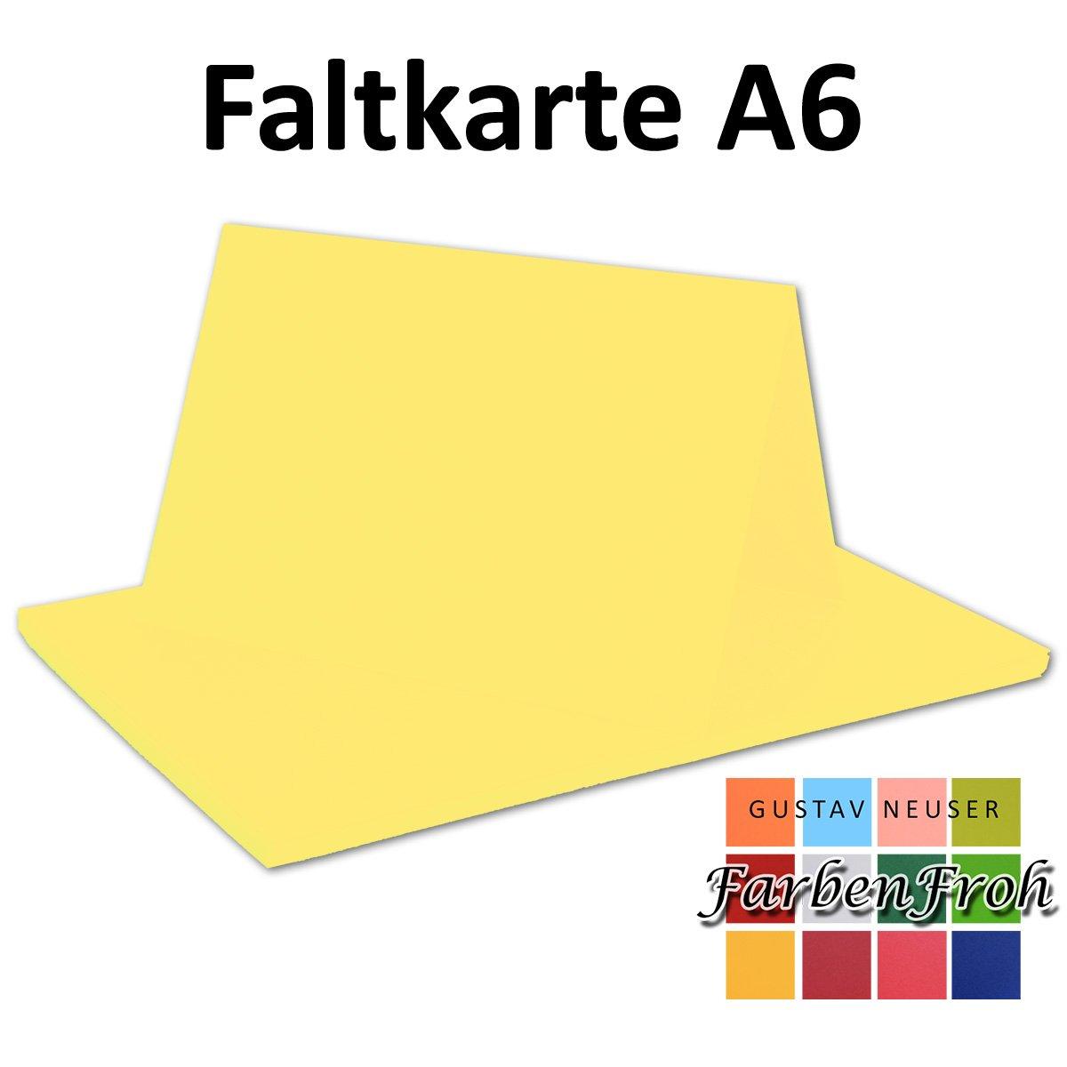 250x Falt-Karten DIN A6 Blanko Doppel-Karten in Hochweiß Kristallweiß -10,5 x 14,8 cm   Premium Qualität   FarbenFroh® B079VN8ZCQ | Kostengünstig