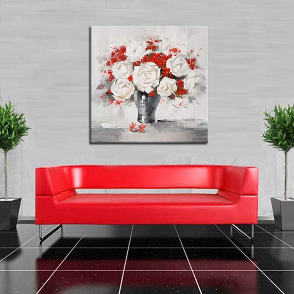 WHUI Contemporáneo pintura al óleo Abstracto Floral Contemporáneo WHUI Lienzo Arte de la pared Sala de estar Dormitorio Baño Cocina Pintura Decoración del hogar ae0d70