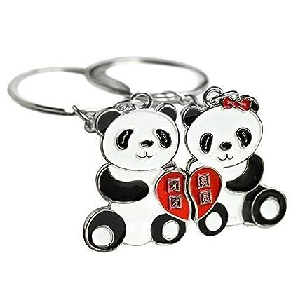 Set de Llavero Regalo de Panda para Parejas Enamoradas