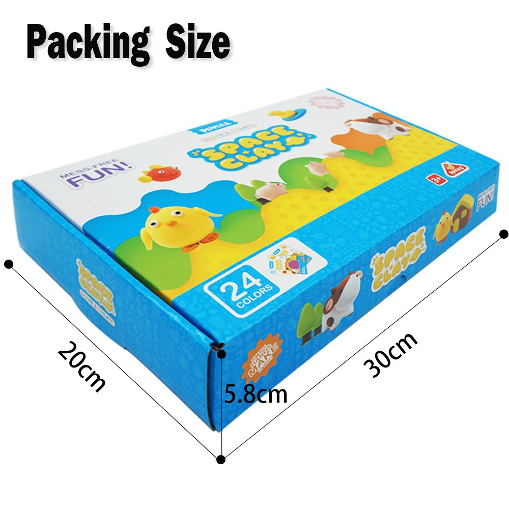 Dear Deer 24 Colors Magic Modeling Clay Ultra Light Air Dry Clay DIY Clay Craft Kit with Tools for Kids Lily/'s Tinyshop