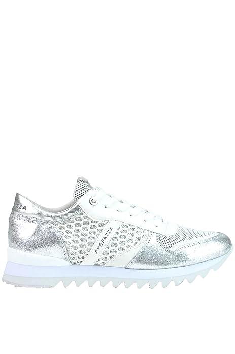 Apepazza Zapatillas de Otra Piel Para Mujer Plateado Plata, Color Plateado, Talla 42: Amazon.es: Zapatos y complementos