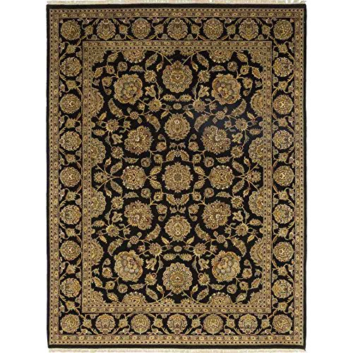 Solo Rugs Oushak Indoor Hand Knotted Area Rug, Black, 12' 1