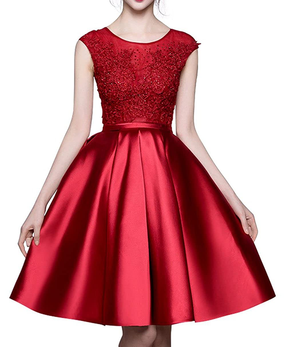 b5ed48aba8 BRL MALL Women s Short Lace Homecoming Dress Bridesmaid Formal Gowns BRL39  at Amazon Women s Clothing store