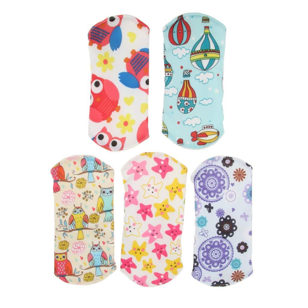 F Fityle 5 piezas Almohadillas Menstruales de Tela Impermeable para Mujeres - Bambú, 7.09x7.09 pulgadas: Amazon.es: Bebé