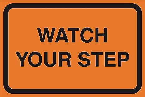 Amazon com: New Great Watch Your Step Orange Road Street