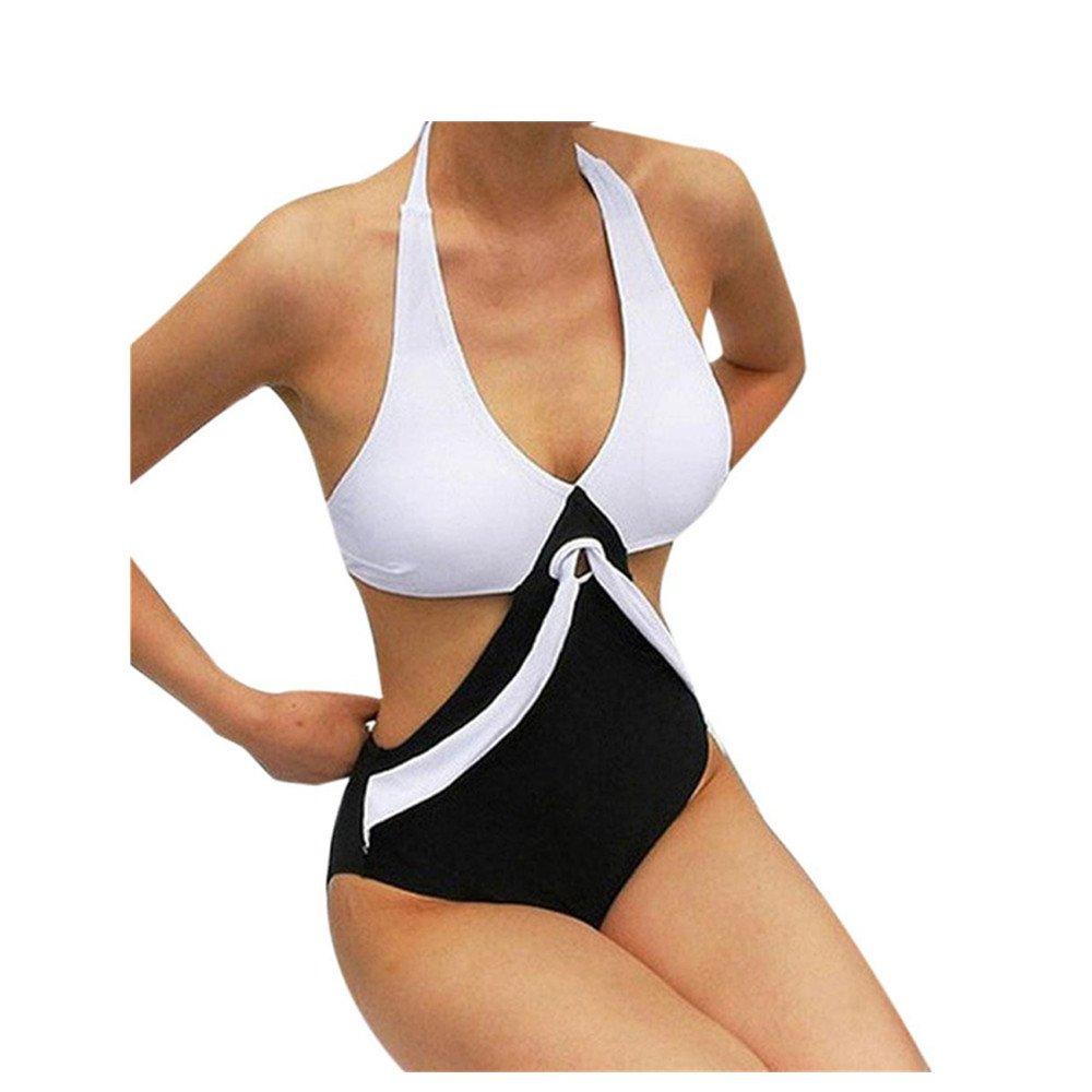 Costumi Da Bagno Donna, zycShang 2018Costume Da Bagno Donna Costume Intero Push-Up In Bikini Con Patchwork