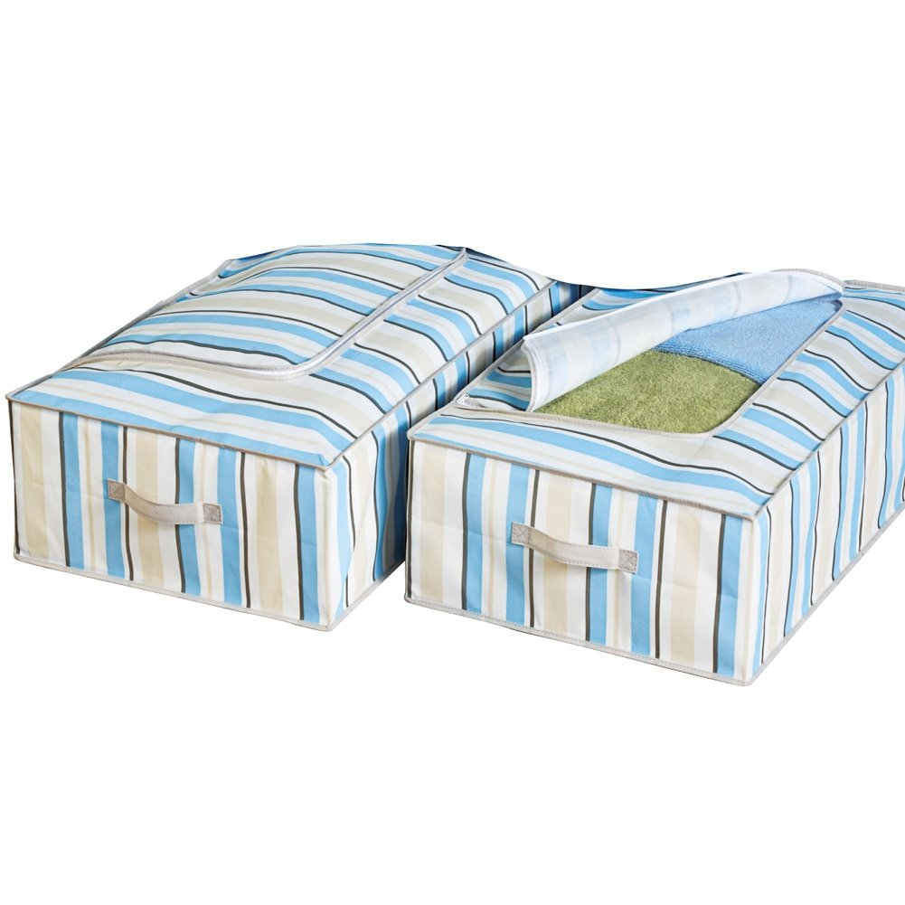 Underbed Zippered Storage Bags - Set Of 2