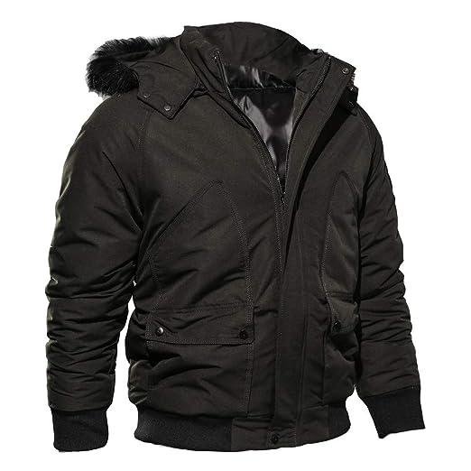 Chaquetas hombre invierno,ZARLE chaquetas moto hombre ropa hombre blusa superior del cremallera Otoño Invierno Ocio Deportes Cardigan Sudaderas de Algodón ...