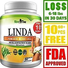 LINDA - Weight Loss Pills for Women & Men - Herbal Diet Supplements - Natural Fat Burner and Appetite Suppressant that work fast - Best diet pills +10 pcs