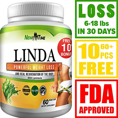 Herbal Appetite Suppressants - LINDA - Weight Loss Pills for Women & Men - Herbal Diet Supplements - Natural Fat Burner and Appetite Suppressant that work fast - Best diet pills +10 pcs