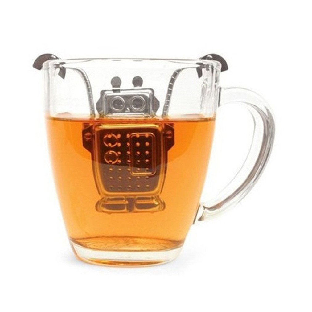 Sevenfly Stainless Steel Tea Infuser Robot Shape Tea Leaf Strainer Filter for Teapot Tea Cup Liqinstore