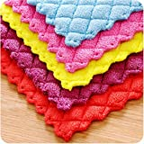 Transer Anti-grease Cloth Bamboo Fiber Washing Towel Magic Kitchen Cleaning Wiping Rags Dish Cloths Scouring Pad (random color)