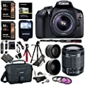 Canon EOS Rebel T6 Digital SLR Camera Kit with EF-S 18-55mm f/3.5-5.6 IS II Lens, 2X Lexar 32GB 633x Memory Card, Canon Bag and Accessory Bundle by Canon