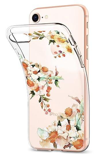 san francisco 80db4 53f27 Spigen Liquid Crystal iPhone 8/7 Case with Slim Protection and Premium TPU  for iPhone 8/7 (2017) - Aquarelle Primrose