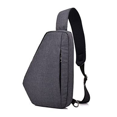 f3e4ce63cafb Image Unavailable. Image not available for. Color  Men s chest bag  waterproof backpack leisure travel ...