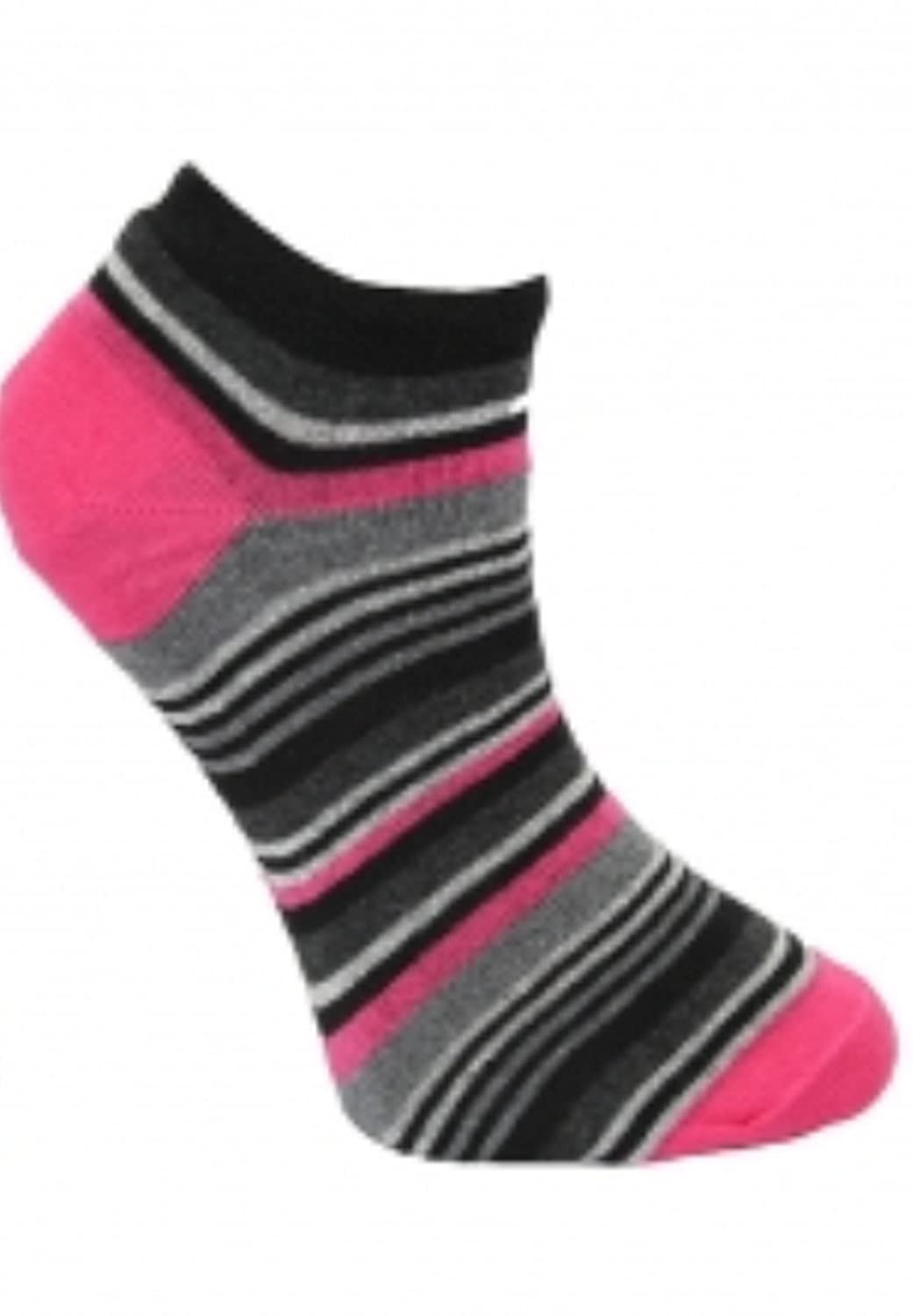 12 Pairs Men/'s Active 3 Stripe Cotton Rich Trainer Liner Socks by Performax