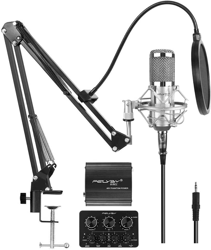 Max 44% OFF FELYBY Premium Condenser Studio Microphone Large discharge sale Cardioid